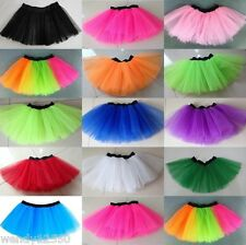 "NET TUTU, ELASTICATED, 16-32"" WAIST, DANCE, HEN, PARTY, COSTUME, PUNK, LADIES"