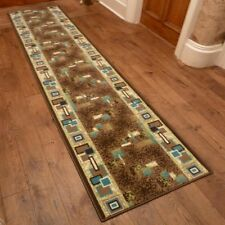 Amuse Brown - Hallway Carpet Runner Rug Mat For Hall Extra Very Long Cheap New