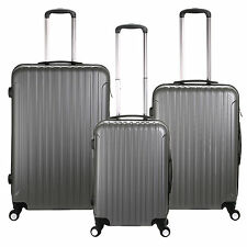 """20"""" 24"""" 28"""" Hard Shell Gray Travel Luggage ,4 Wheel Cabin Trolley Suitcase"""