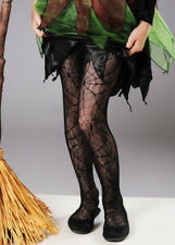 Childrens Halloween Witch Black Spider Lace Tights