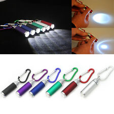 Mini LED Portable Flashlight camping Keychain Torch Handy Light Lamp Carabiner