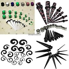 New 23 Pcs Ear Taper+ PLUG Kit 14G-00G 1.6mm-10mm Gauges Expander Set Fashion ED