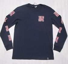 "LOVE MOSCHINO Mens ""LM"" Navy Long-Sleeve Crewneck T-Shirt Size L"