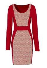 Women Dress, 82691 in Red checkered