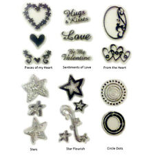 Scrappy Cat Clear Stamps Sayings & Shapes 6 Design Choices Scrapbooking fnt