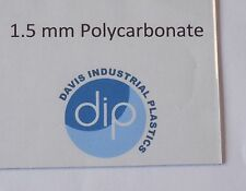 1.5 mm Clear POLYCARBONATE Sheet Free Post