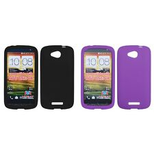 For HTC One VX Silicone Skin Rubber Soft Case Phone Cover