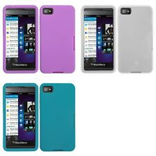 For BlackBerry Z10 Silicone Skin Rubber Soft Case Phone Cover