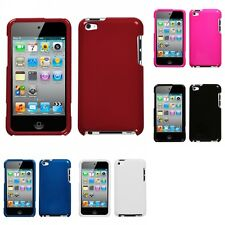 For Apple iPod Touch 4th Gen Rigid Plastic Hard Snap-On Case Phone Cover
