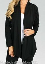 Black Long Sleeve Shrug/Cover-Up Drape Scarf Tunic Cardigan