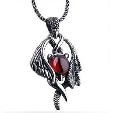 Natural Gemstone Sterling Silver Fine Jewelry Necklace Wings Pendant SZ15-1009