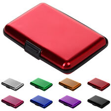 Business ID Credit Card Wallet Waterproof Holder Aluminum Metal Pocket Case New