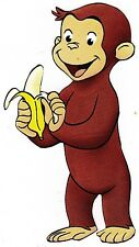 "7""-11"" CURIOUS GEORGE MONKEY CHARACTER WALL SAFE STICKER BORDER CUT OUT"