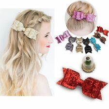 Women Girls Hairpin Bowknot Barrette Crystal Hair Clip Bow Acc Valentine's Gift