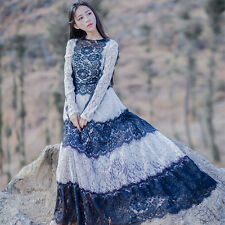 Elegant Lady Vintage Sweet Lolita Lace Long Sleeve Fairy Dress Princess style