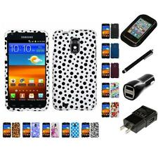 For Samsung Epic Touch 4G D710 Design Snap-On Hard Case Phone Cover Charger
