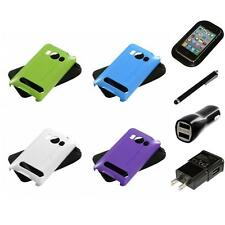 For HTC Evo 4G Hybrid Rugged Impact Hard Soft Case Phone Cover Charger Stylus