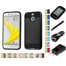 For HTC BOLT Hybrid IMPACT Hard TUFF Hybrid Case Phone Cover Charger Stylus