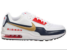 NEW MENS NIKE AIR MAX LTD TRAINERS CASUAL SHOES WHITE / MIDNIGHT NAVY / UNIVERSI