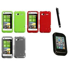 For HTC Radar 4G / Omega Rigid Plastic Hard Snap-On Case Phone Cover Mount+Pen