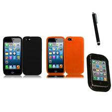 For Apple iPhone 5/5S/SE Silicone Skin Soft Rubber Case Phone Cover Mount+Pen