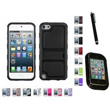 For Apple iPod Touch 5th 6th Gen TPU Hard Case Skin Phone Cover Mount+Pen