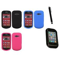 For Samsung Galaxy Reverb M950 Silicone Skin Rubber Soft Case Cover Mount+Pen