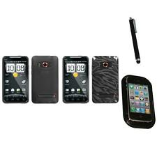For HTC Evo 4G TPU Rubber Skin Flexible Case Phone Cover Mount+Pen