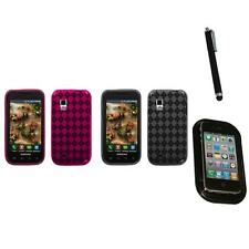 For Samsung Fascinate i500 TPU Rubber Skin Flexible Case Phone Cover Mount+Pen