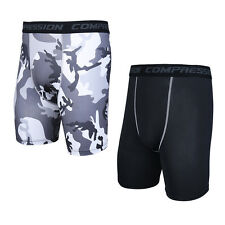 Mens Compression SHORTS Running Cycling Gym Sports Skins Under Short Base Layer