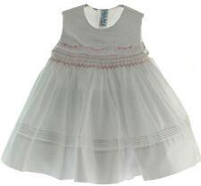 Infant Girls White Sleeveless Portrait Dress Feltman Brothers