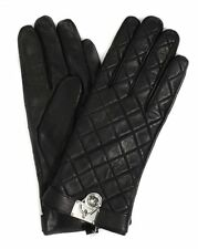 NWT MICHAEL Michael Kors Quilted Leather Hamilton Lock Gloves W/Touch Tips S M