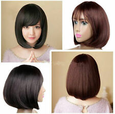 Fashion Short Wig Anime Cosplay Party Straight Hair Cosplay Full Wigs With Bangs