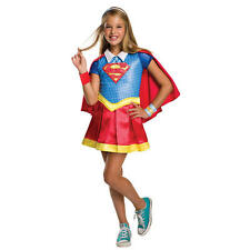 Girl's DC Superhero: Supergirl Deluxe Halloween Costume - Child Size