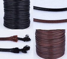 3/10Yards Round Black/Brown Waxed Cotton Cord Necklace Thread Wire Jewelry Find