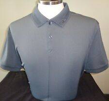 NEW J LINDEBERG REX Regular Polyester Golf Polo Shirt, DARK GREY, LARGE, $120