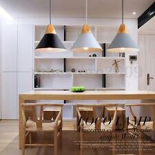 E27 Modern Wood Pendant Ceiling Hanging Lamp Chandelier Kitchen Light Fixture