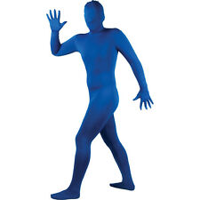Wicked Costumes SKINZ Lycra Spandex Complete Body Sock Skin Tight Suit - Blue