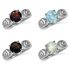 8MM Round Gemstone 925 Sterling Silver Filigree Ring