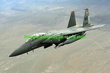 USAF F-15E  Strike Eagle Fighter Aircraft Color Photo Military Afghanistan F 15