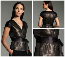 NWT Narciso Rodriguez for Designation sequin charmeuse jacket top L retail $68