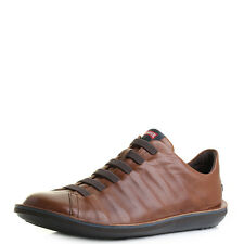 Mens Camper Beetle Brown Leather Lace Up Casual Shoes UK Size