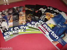 2011/12 EVERTON HOME PROGRAMMES CHOOSE FROM