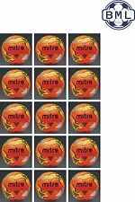15 x MITRE IMPEL TRAINING FOOTBALLS - ORANGE - SIZES 3,4 & 5