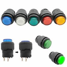 LOT Self-locking/Non-Locked LED 2/4 Pin 16mm Push On Button Switch Color R16 503