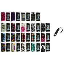 For iPhone 3G S 3GS Design Hard Snap-On Case Skin Cover Accessory+Stylus Plug