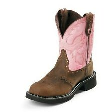 L9901 Justin Ladies Gypsy Cowboy Boots Bay Apache w/Pink Top NEW