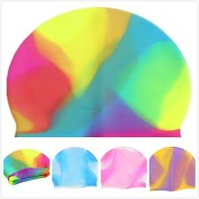 Adult Unisex Women Men Silicone Water Sport Swimming Swim Elasticity Cap Hat Y