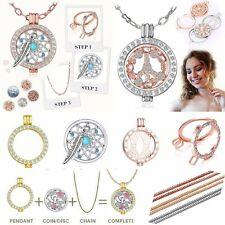 2018 DIY Disc My Coin/Locket Pendant Holder/Chain For Crystal Necklace Jewelry