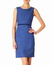 Phase Eight Darcey Denim Blue Double Layer Lace Dress Size 12 New Without Tags